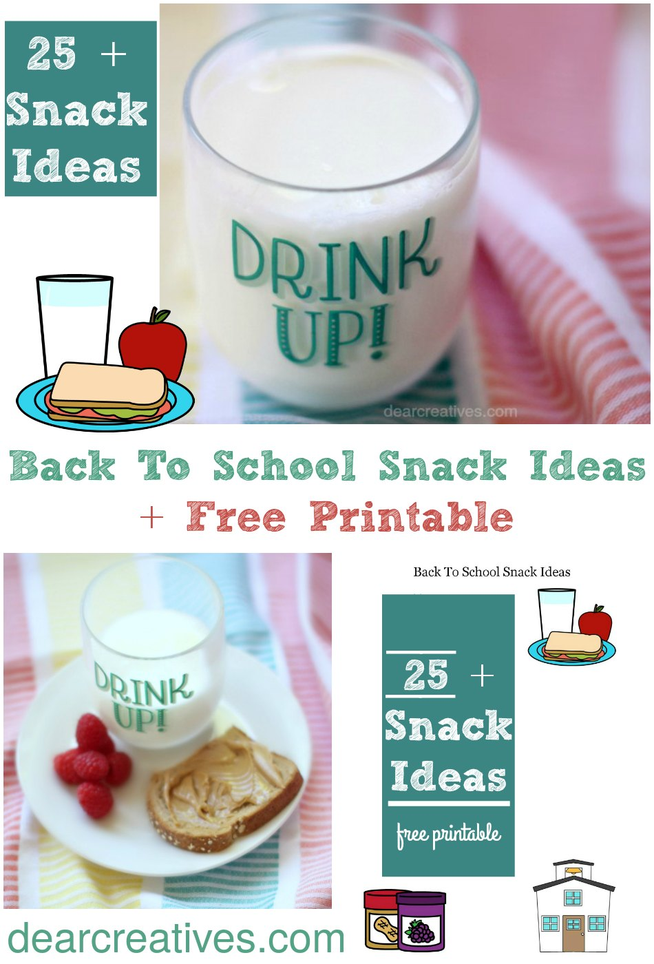 Back to School After School Snack Ideas + Free Printable