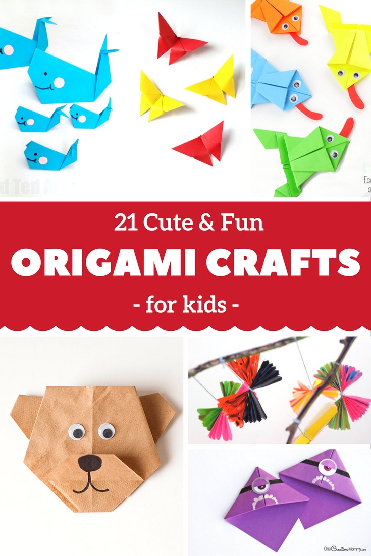 21 Cute And Fun Origami Kids Crafts You'll Love Making With Your Kids!