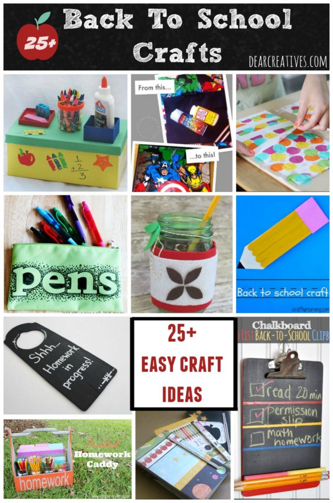 Back To School Crafts 25 + Fun And Easy DIY Craft Projects!