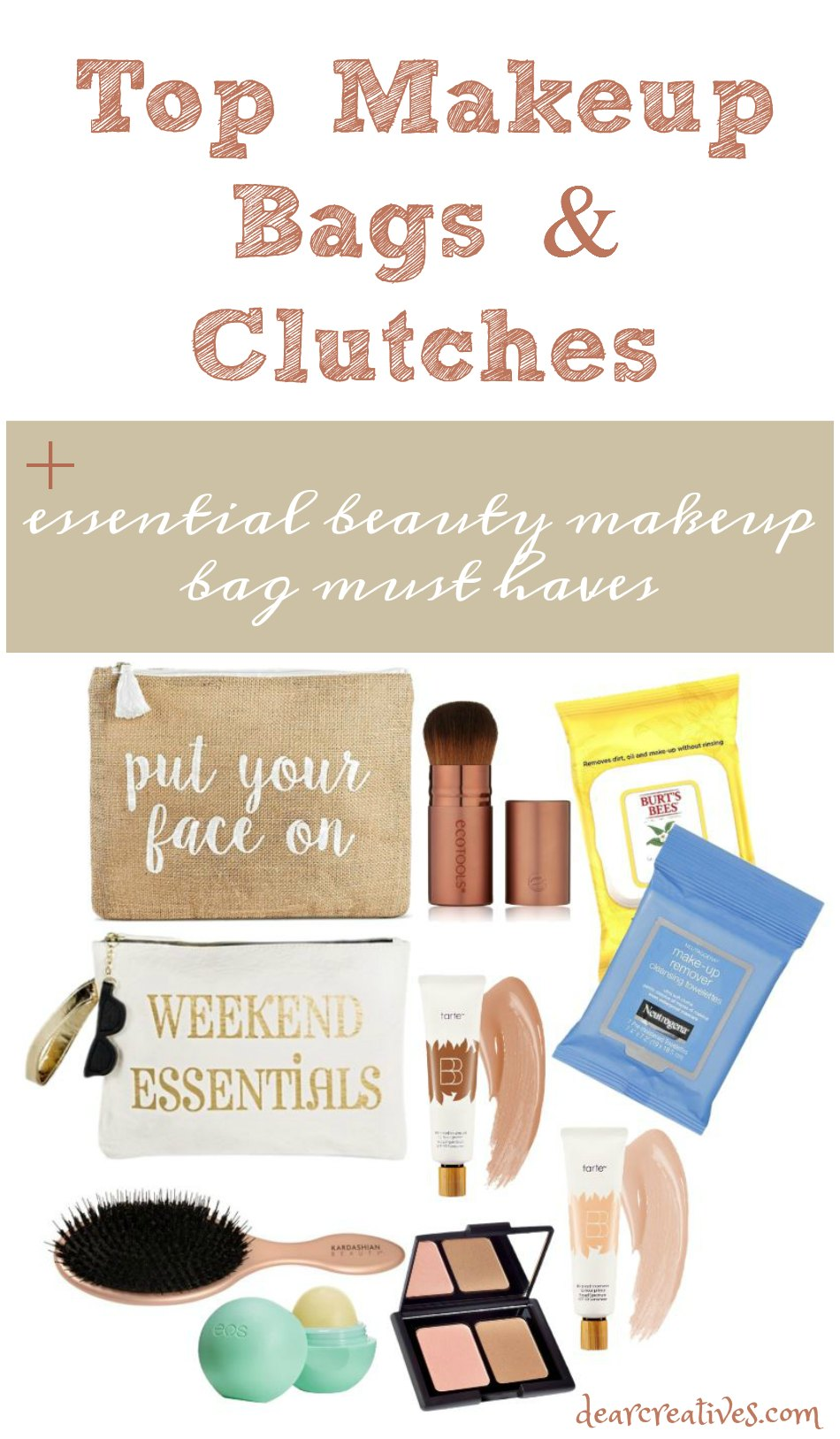 Trending Makeup Bags And Clutches + Essential Beauty Must Haves