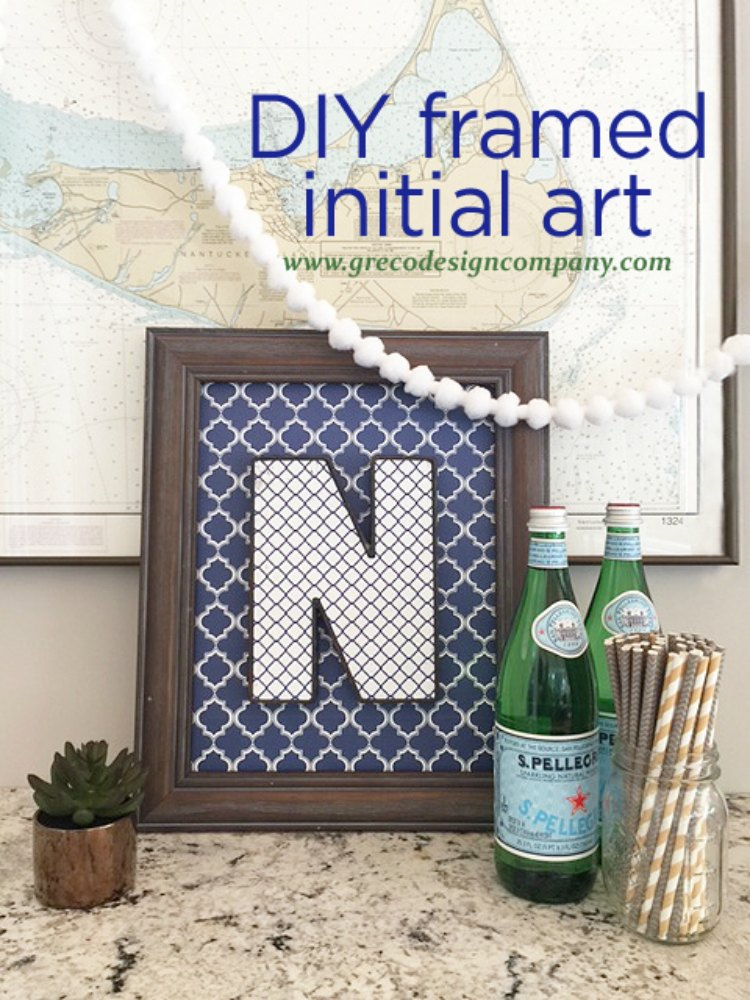 DIY Framed Initial Art