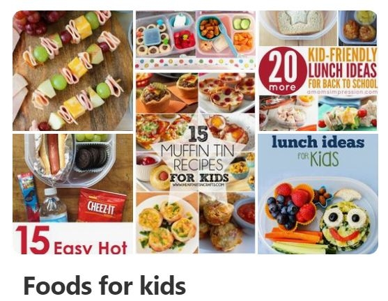 Foods and snacks for kids