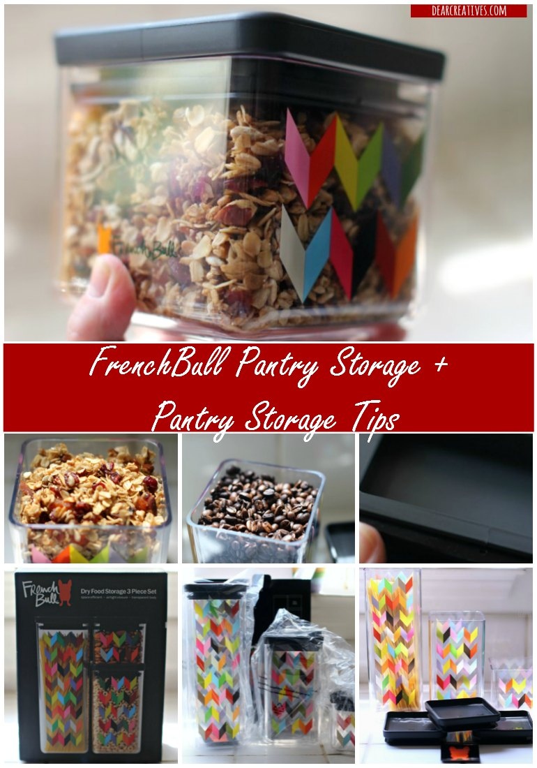 Pantry Storage Tips and Pantry Storage containers by FrenchBull