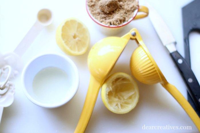 Peach Pie lemon brown sugar baking items