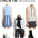 women's fashion trends necktie blouses and current fashion looks & styles for women