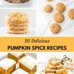 Pumpkin Recipes | Pumpkin Spice Recipes | A roundup of some of the most delicious pumpkin recipes which includes pumpkin bars, pumpkin cookies, pumpkin bread, pumpkin blondies, pumpkin cheesecakes and more treats.