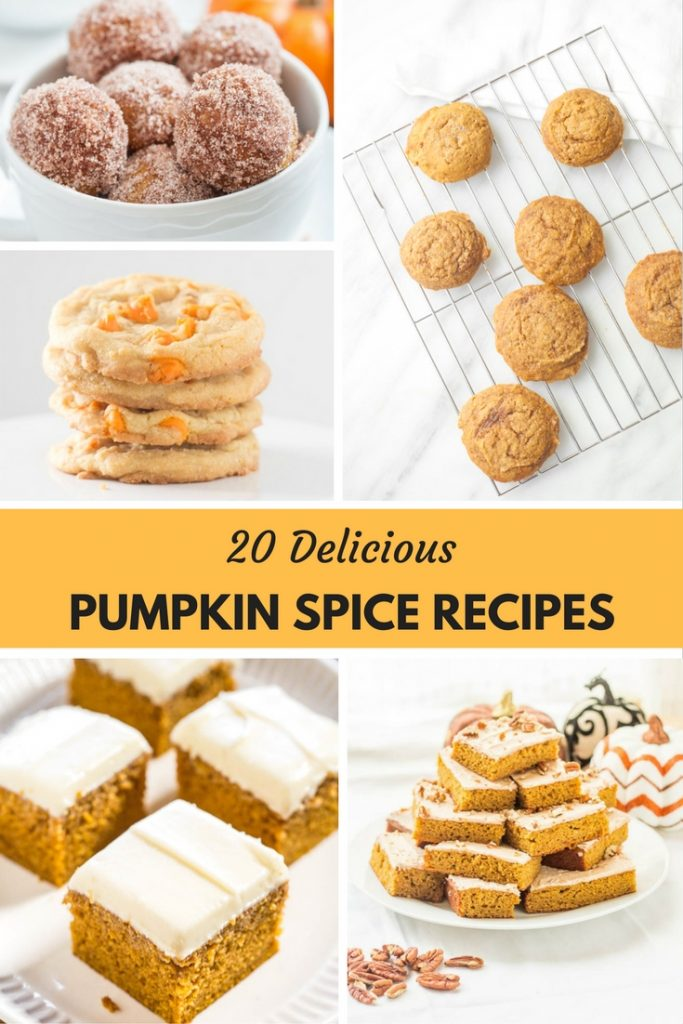 Pumpkin Recipes | Pumpkin Spice Recipes | A roundup of some of the most delicious pumpkin recipes which includes pumpkin bars, pumpkin cookies, pumpkin bread, pumpkin blondies, pumpkin cheesecakes and more