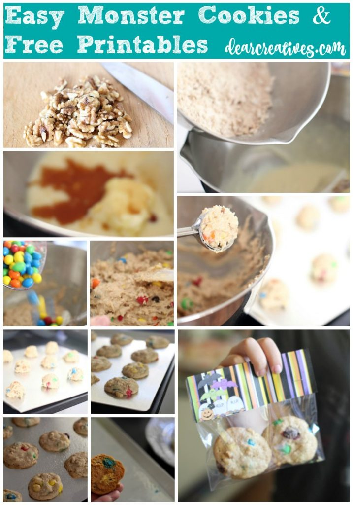 Baking   Easy Monster Halloween Cookies Recipe that the kids will love and ideas for gifting them or sharing them at a party.