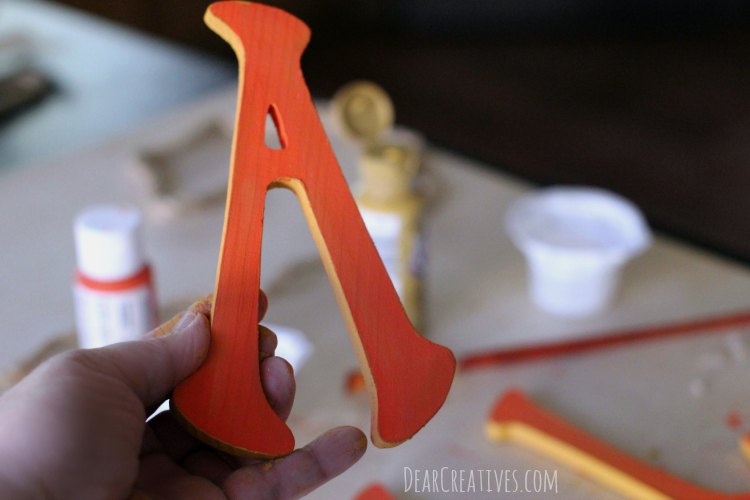craft-project-fall-banner-with-wood-letters-close-up-of-two-tones-of-paint-on-wood-letters