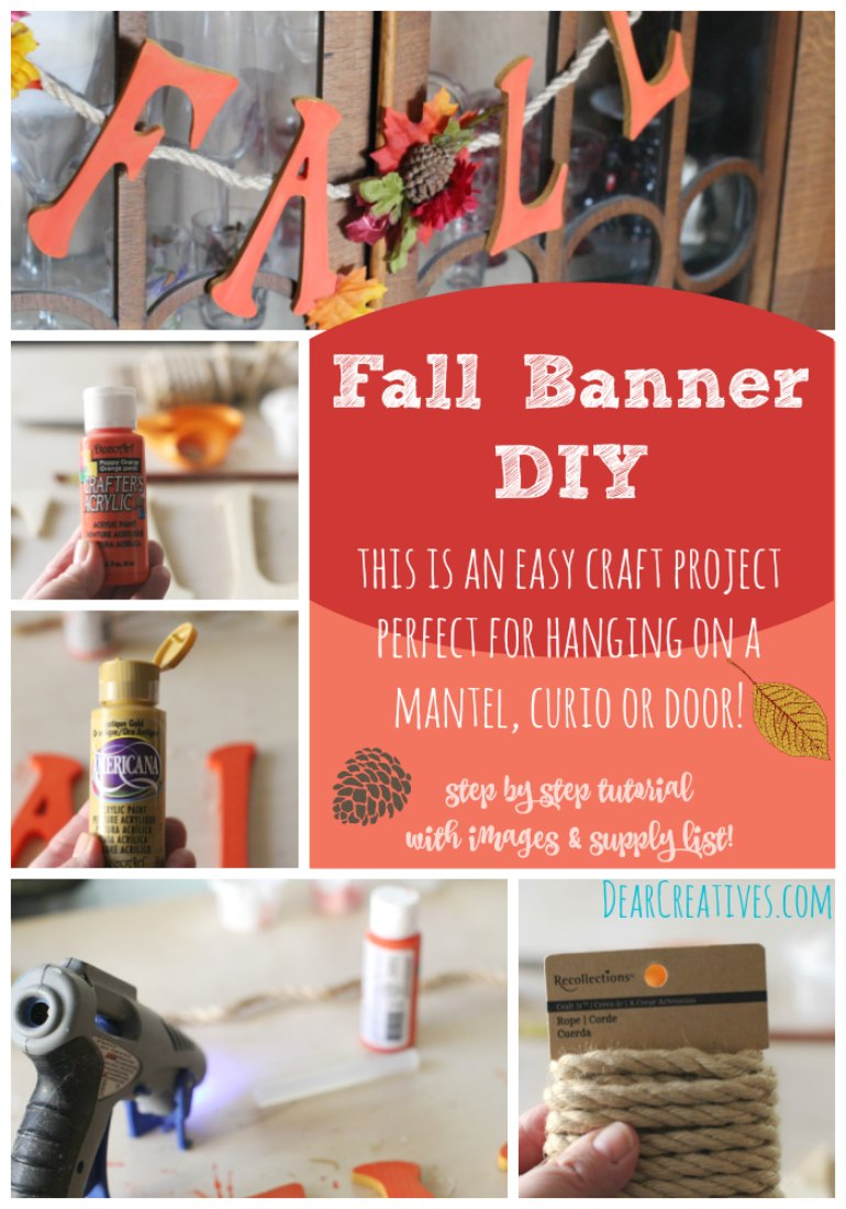 Diy crafts project pretty fall banner with wood letters for Easy diy fall crafts