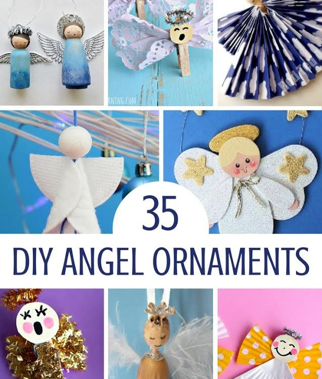 35 Sweet Angel DIY Ornaments!  Perfect For Holiday Trees And Decorations