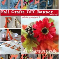 Pretty Fall Banner With Wood Letters