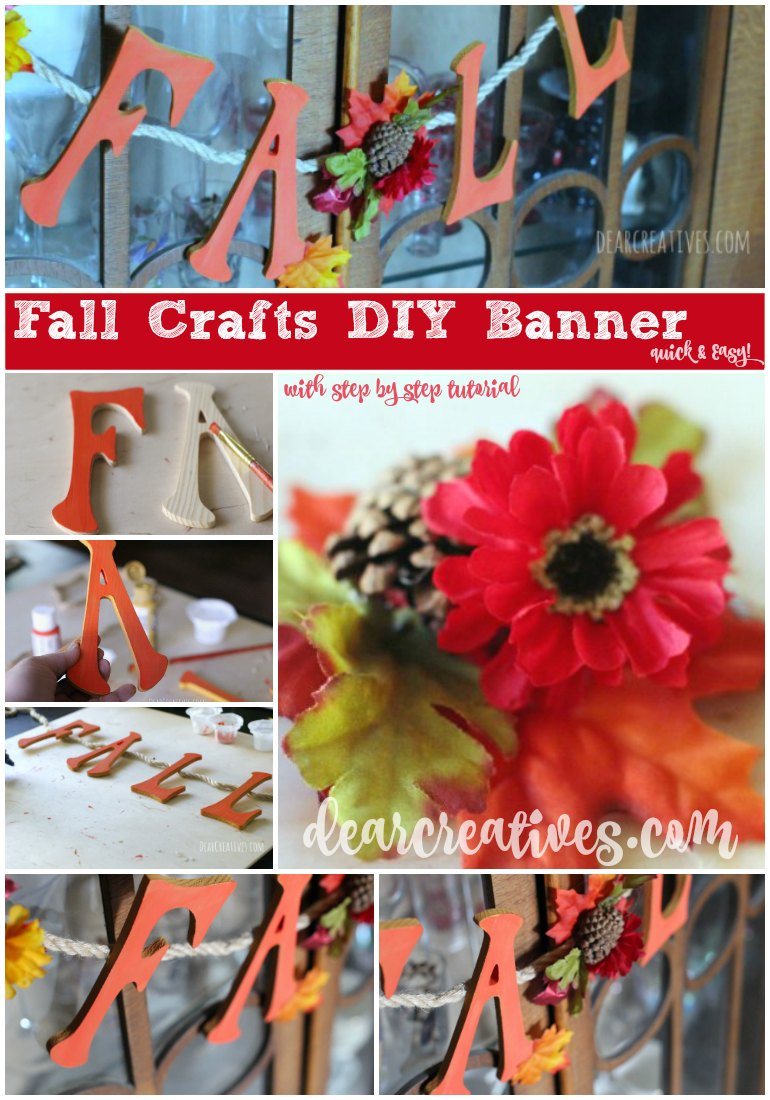 Pretty Fall Banner With Wood Letters Make This In No Time Flat!
