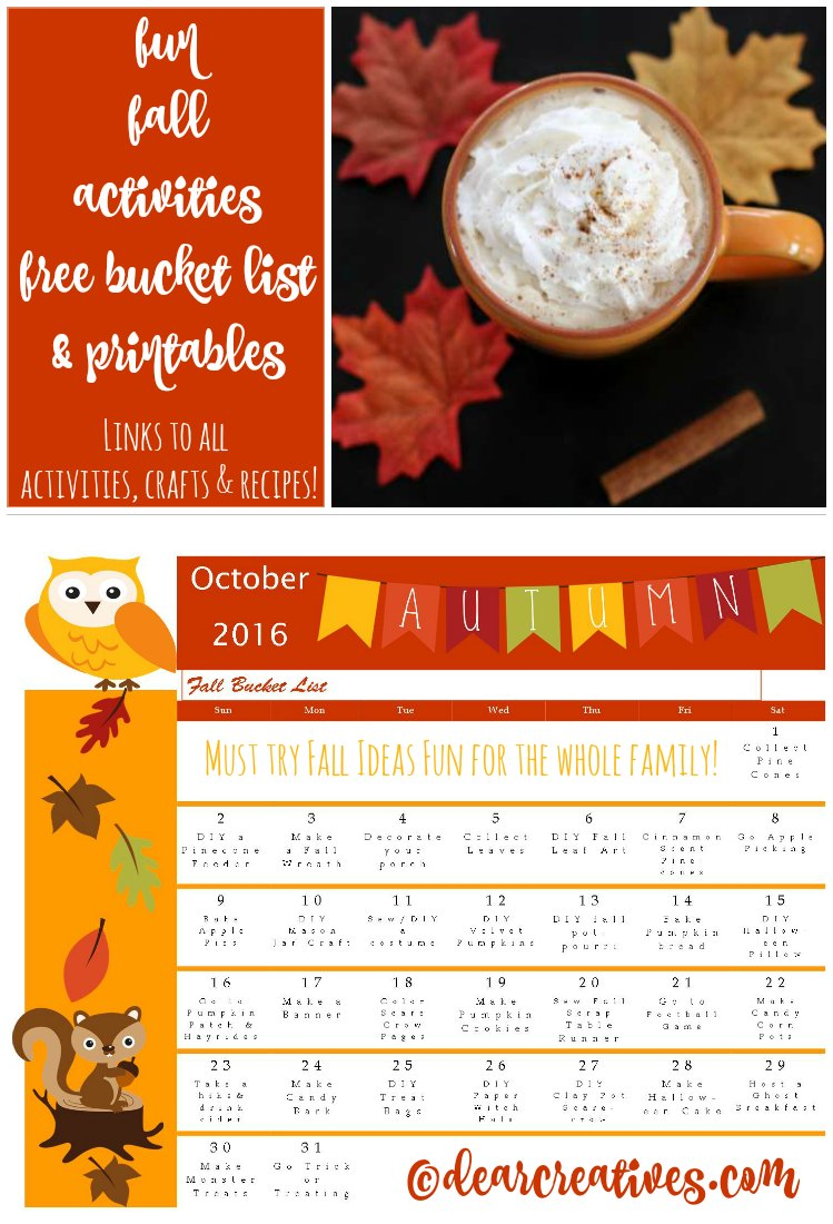 Fun Fall Activities: Bucket List of Fun Fall Ideas & Where To Find Them! + Free Printables!