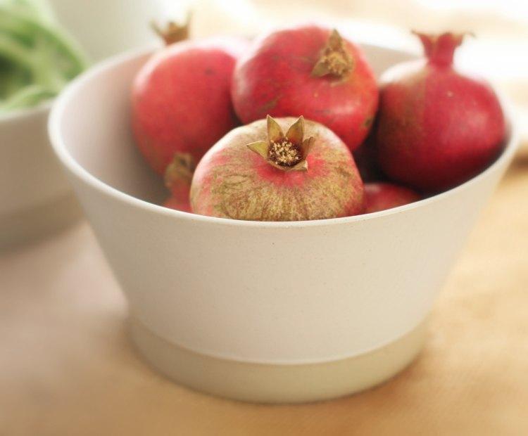 home decor style | pomegrantes-in-a-morandi-bowl-from-burke-decor