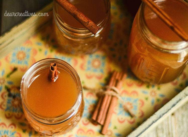 spiced-apple-cider drink recipe for fall that anyone can make at home for fall gatherings, holidays or parties.