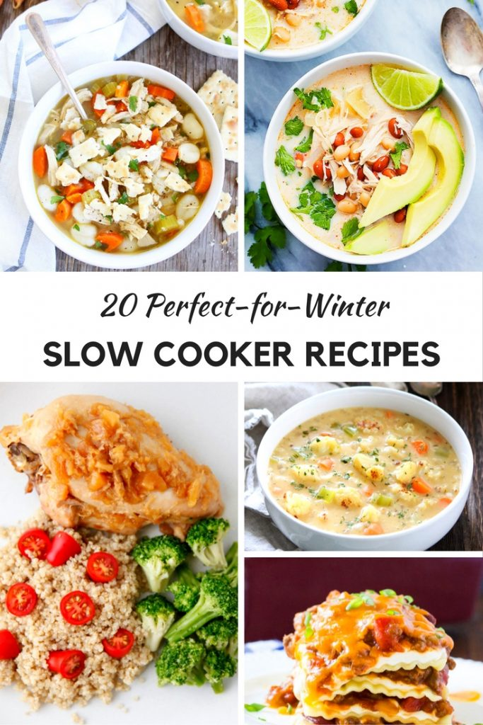 Slow Cooker and Crockpot Recipes that are perfect for fall and winter. Soups, stews and other recipes that you can easily make and serve when done