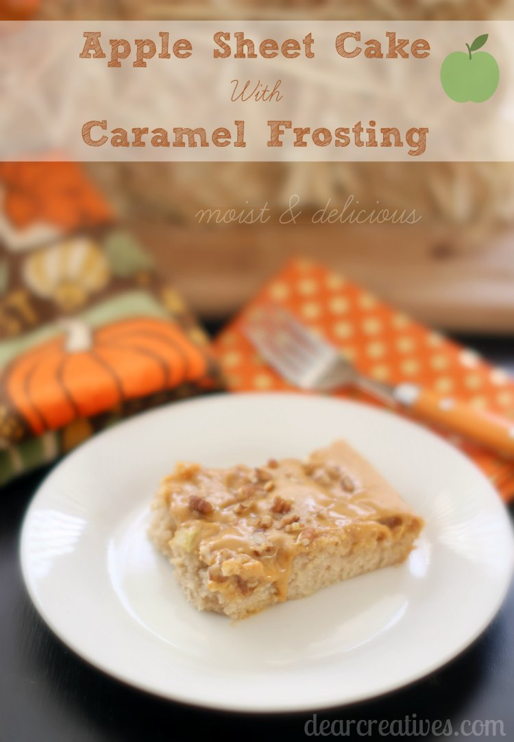 Crowd Pleasing Apple Sheet Cake Recipe With Caramel Frosting