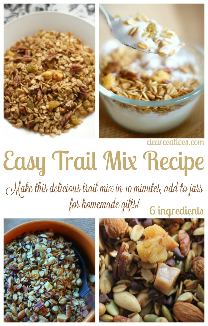 Easy Trail Mix Recipe And Makes A Great Homemade DIY Gift! Twofer!!