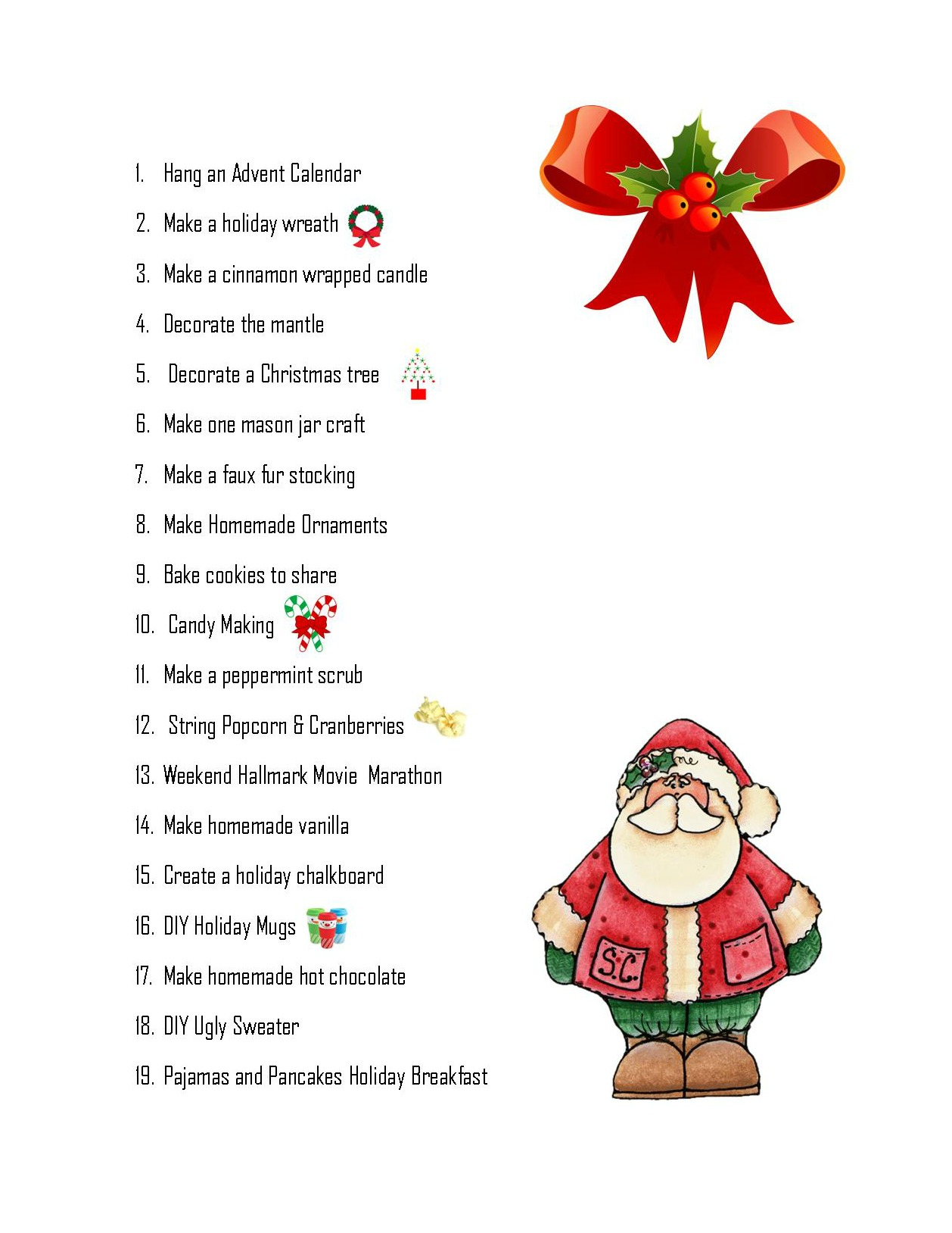 Christmas Bucket List For Families (Free Printable)