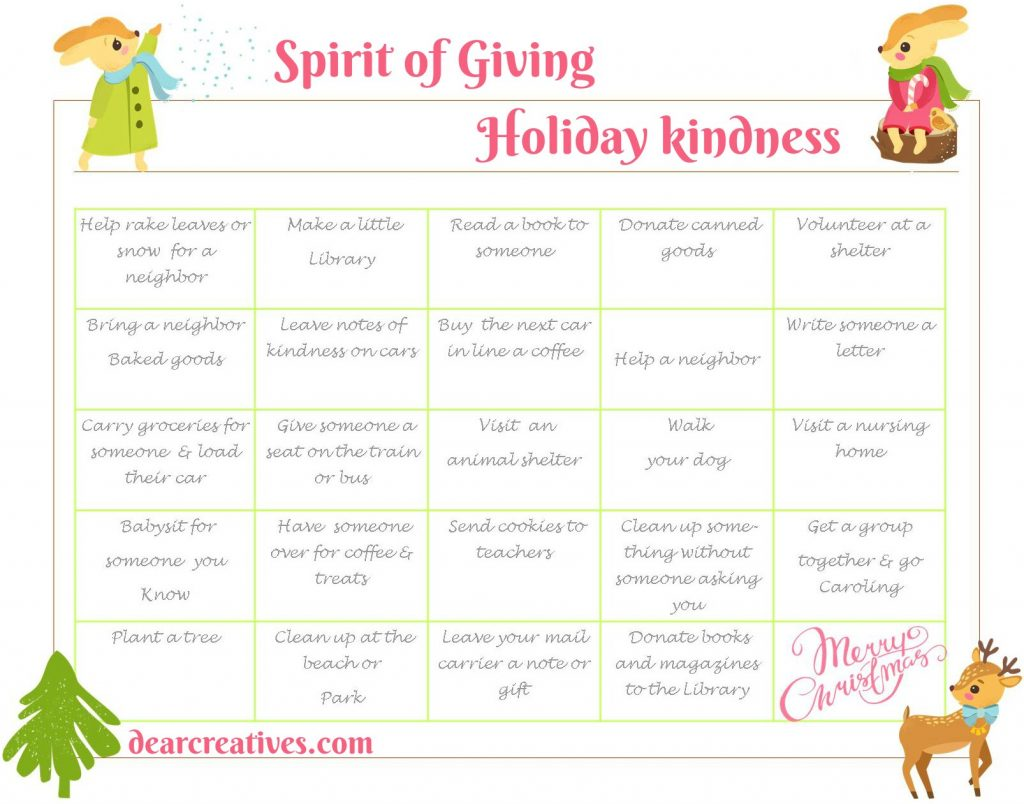 holiday spirit-kindness-holiday-of-giving-calendar-2