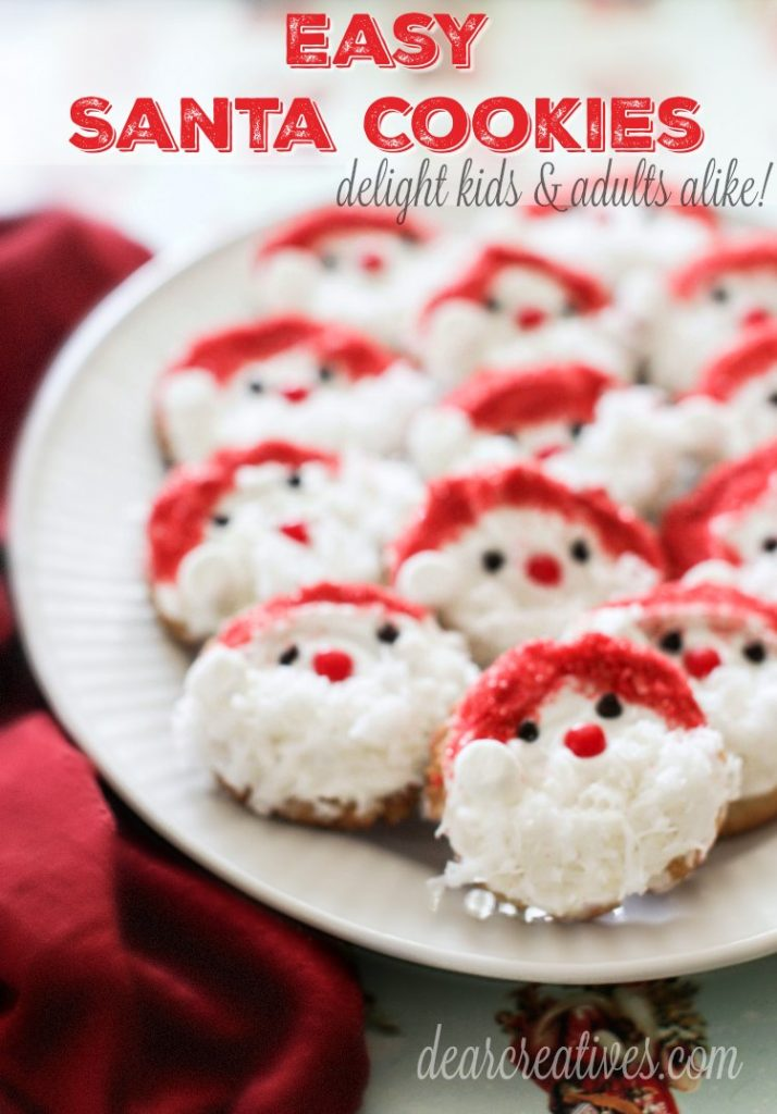 Holiday Cookies Recipes Santa Claus Cookies Easy