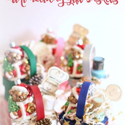 Mini Christmas Gift Baskets DIY