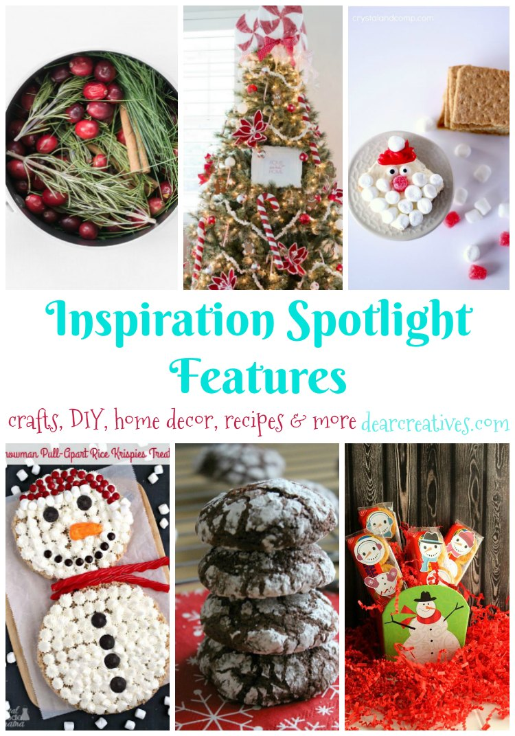Linkup Party: Inspiration Spotlight Party 225 Crafts, DIY, Home Decor, Recipes & More!