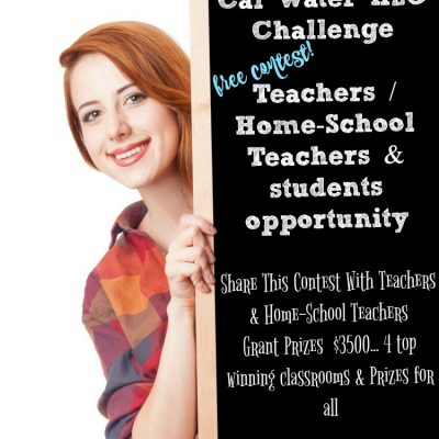 Cal Water H20 Challenge For Teachers Home-School Teachers & their students | FREE classroom competition teaching kids about caring for water & conservation