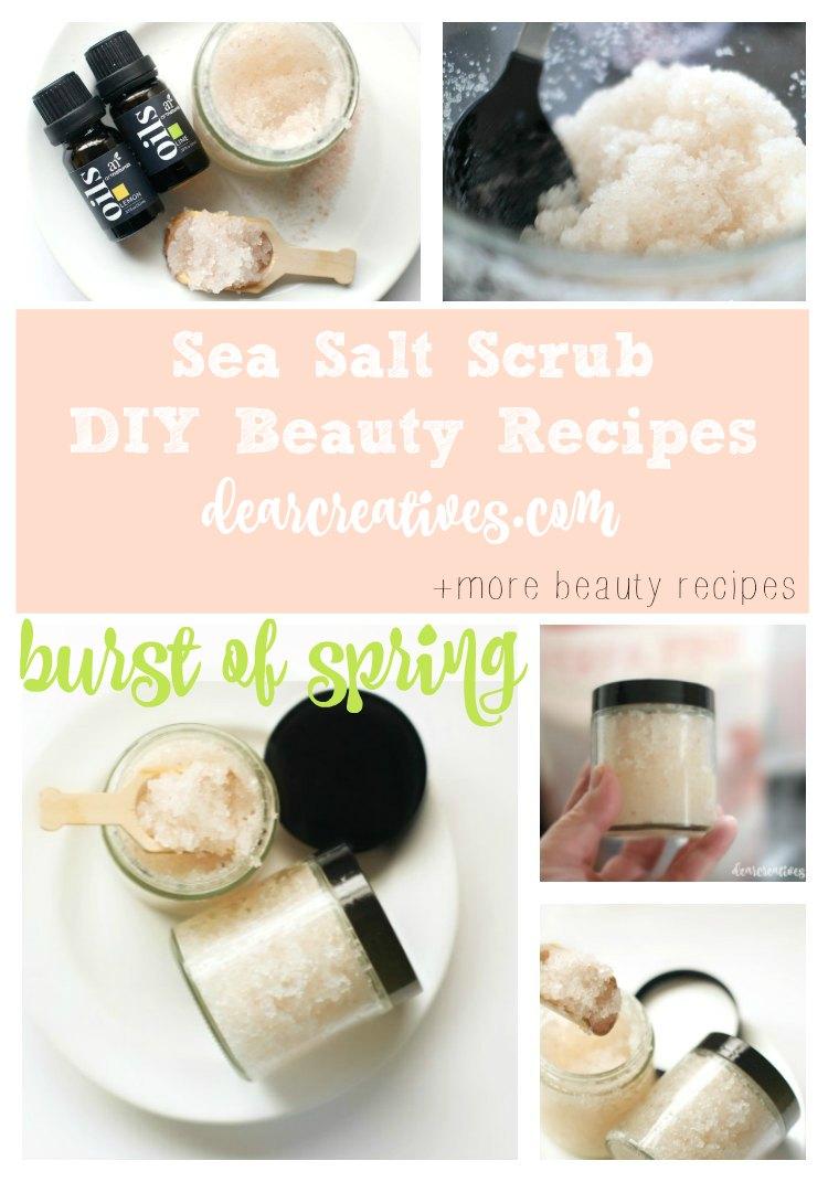 DIY Beauty Recipes: Burst of Spring Sea Salts Scrub Recipe
