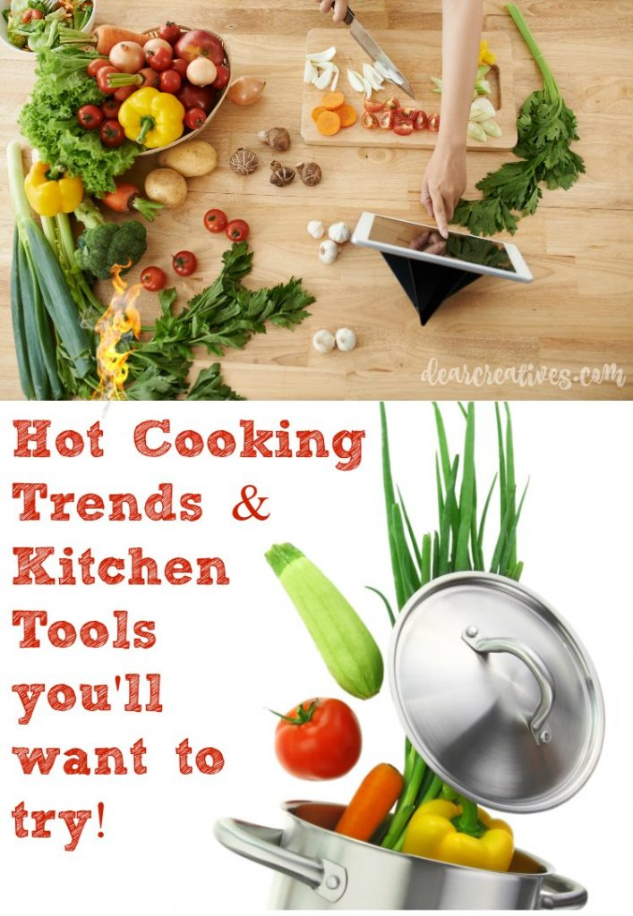 In the kitchen Hot cooking trends and cooking tools. Trends and tools you want to try for being more healthy to time saving tools in the kitchen!