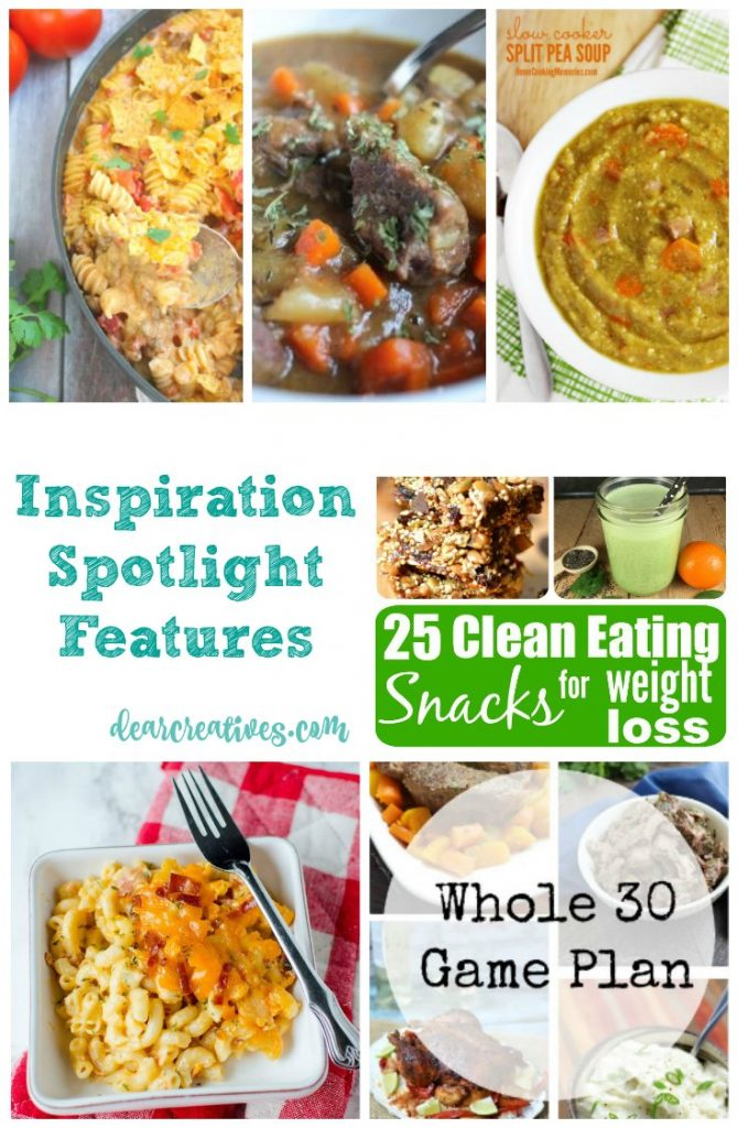 Linkup Party Inspiration Spotlight 227 Healthy Recipes and Clean Eating Recipes. These recipes are a roundup of recipes and ideas that are perfect for cooking.