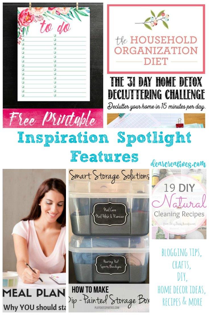 Linkup Party Inspiration Spotlight Party 228 Crafts, DIY, Recipes & more!