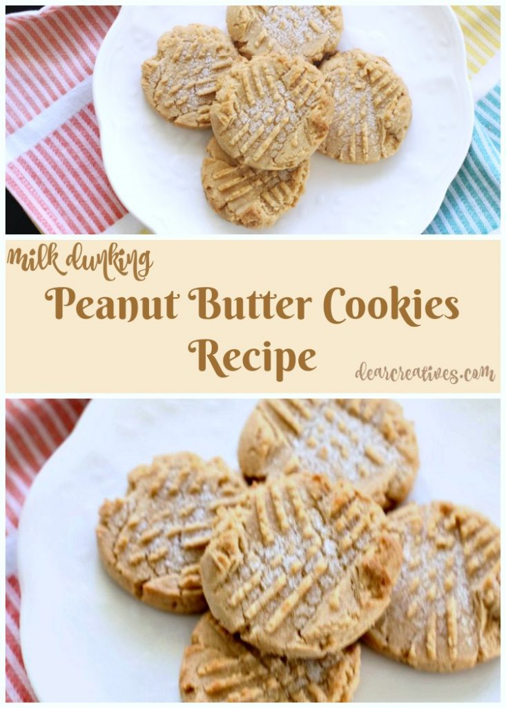 Baking Recipes Easy Peanut Butter Cookies Recipe You'll love milk dunking these cookies. And a review of Once Again Nut Butters. These homemade cookies are so good!