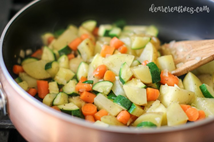 Easy Recipe Easy Soup Recipe Vegetables cooking in the pot for turkey soup
