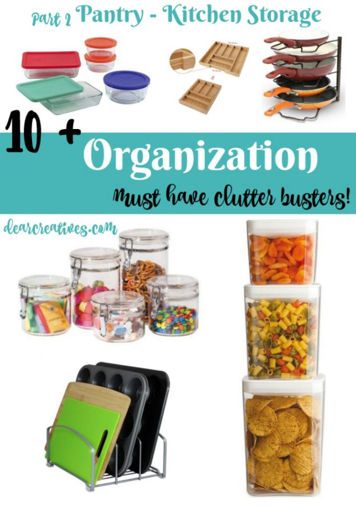 Home Organization Pantry and Kitchen Ideas and tips for organizing and food storage solutions. Easy ways to maximize your space and make it efficient and functional!