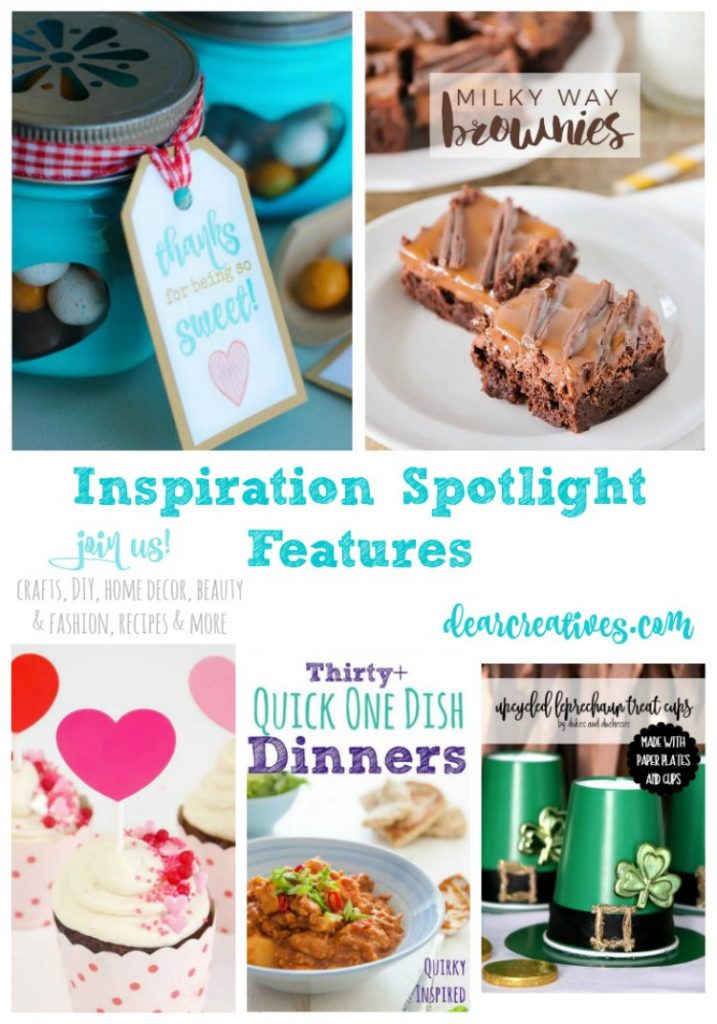 Linkup Party: Inspiration Spotlight Linkup Party 232 Crafts, DIY, home decor ideas, beauty, fashion, recipes and more.