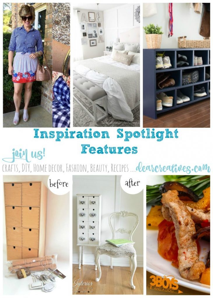 Linkup Party Inspiration Spotlight Party 231 Crafts, DIY, home decor ideas, beauty, fashion, blogging tips, recipes and more! Join us