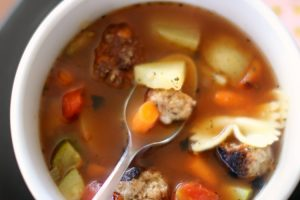 easy recipes turkey meatball vegetable soup recipe makes a delicious meal.