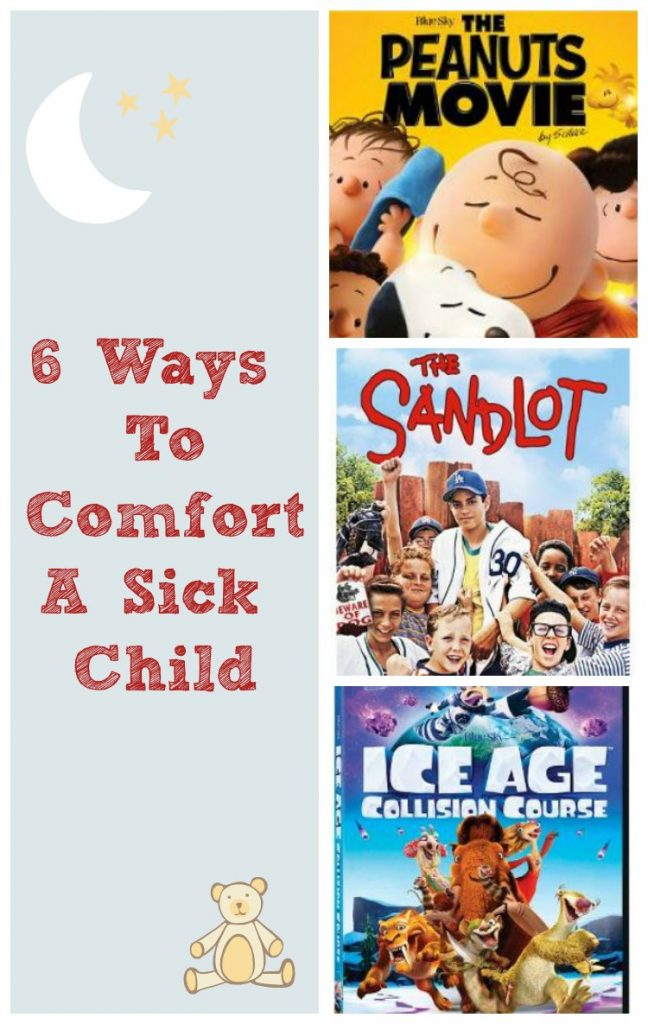 #sickjustgotreal 6 ways to comfort a sick child #ad