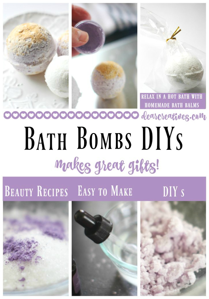 DIY Beauty Recipes bath bombs, bath fizzies DIYs and other beauty recipes to pick from they make great gifts and are easy to make.