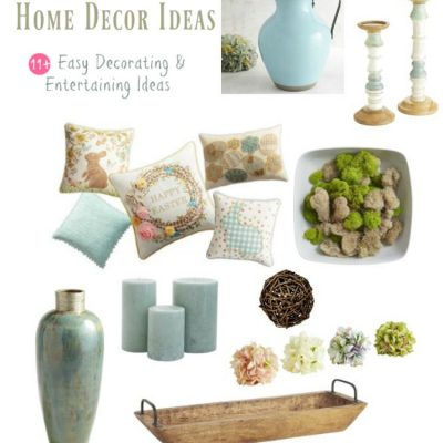 How To Make Your Home Festive For Spring & Easter 11+ Easy Decorating And Entertaining Ideas