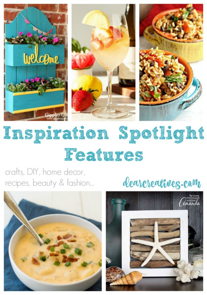 Linkup Party Inspiration Spotlight Party 238 Join Us! Crafts, DIY, Home Decor, Recipes And More