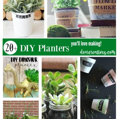 The Best DIY Planters. You will love making these planter pots for spring, earth day or for gifting! So many to choose from. These projects are a mix of indoor planters and outdoor planters. Perfect for any time of year.