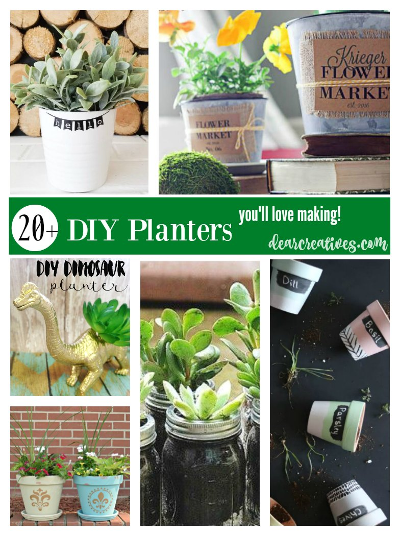 DIY Planters | The Best DIY Planters. You will love making these planter pots for spring, earth day or for gifting! So many to choose from. These projects are a mix of indoor planters and outdoor planters. Perfect for any time of year.