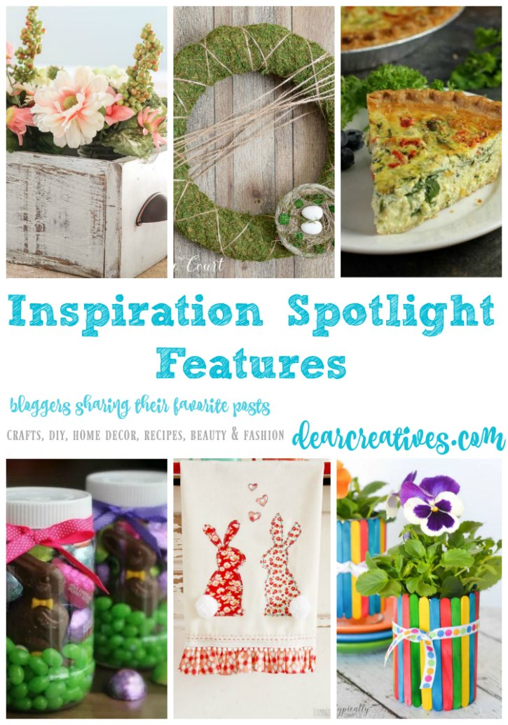 Linkup Party Inspiration Spotlight Party 240 Crafts, DIY, Home Décor, BB, Fashion, Recipes & More