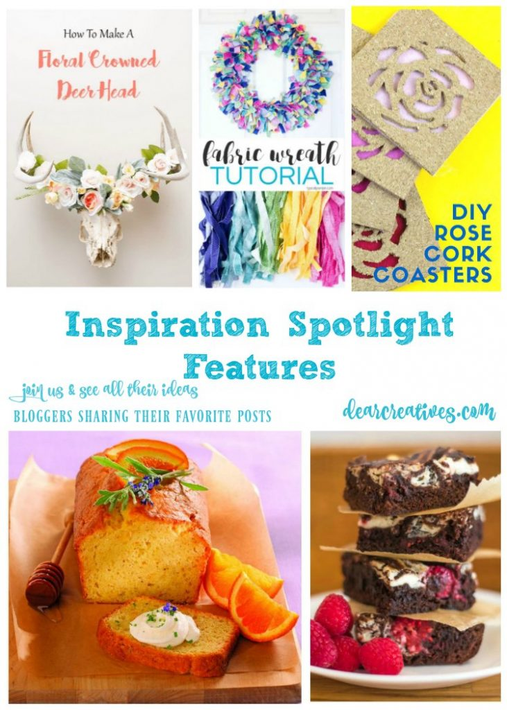 Linkup Party Inspiration Spotlight 243 Bloggers sharing their favorite crafts, DIY, recipes, home decor ideas, recipes and more. Ideas for seasonal holidays like Mother's Day and other seasonal holidays.