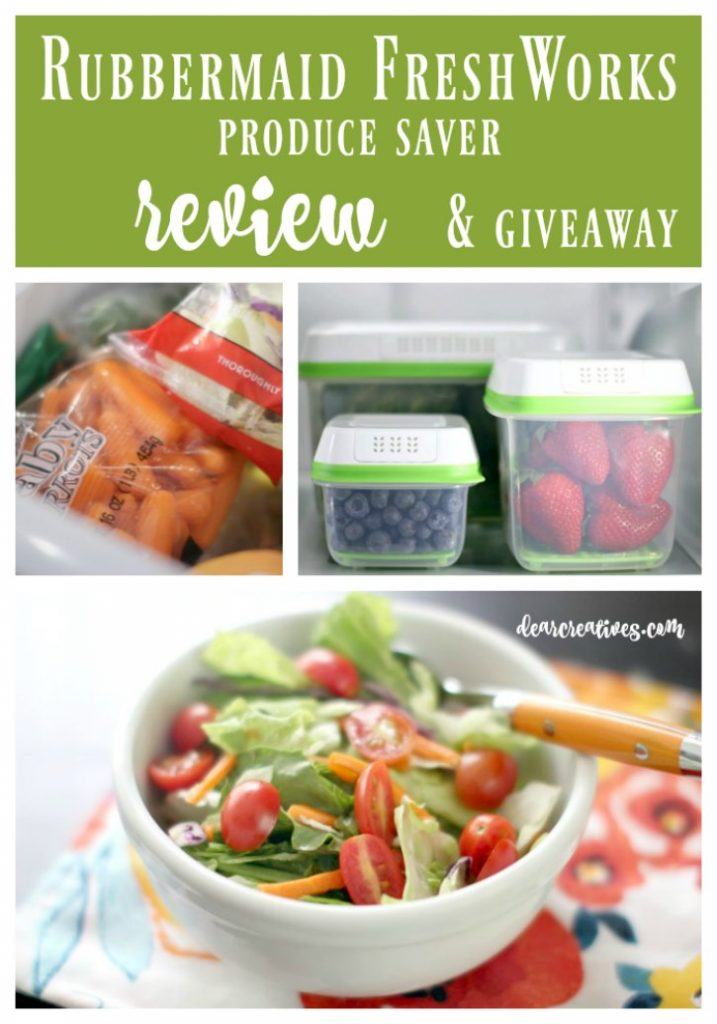 Rubbermaid FreshWorks Review and giveaway. My favorite kitchen hack for fruit and veggies. You'll love these kitchen storage containers. See why and enter the #FreshWorksFreshness contest #ad