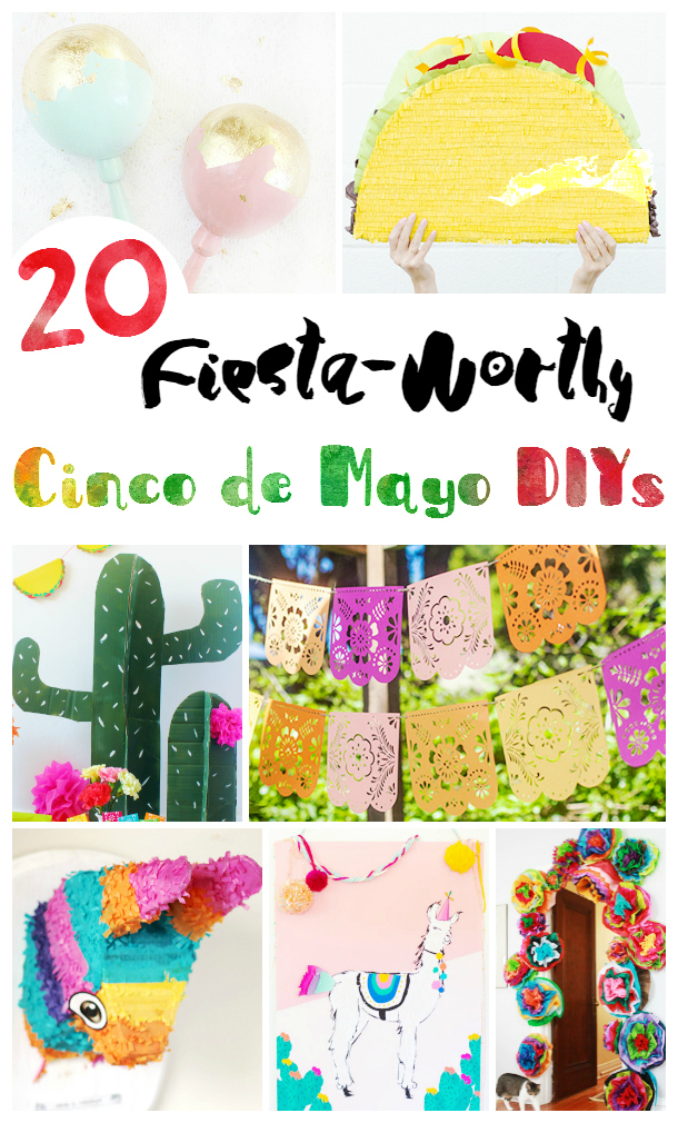 Cinco de Mayo party decorations you can craft and make at home. for your fiestas and themed Cinco de Mayo parties. DearCreatives.com