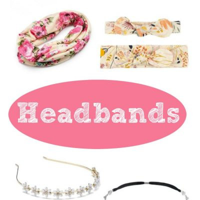 headbands fashionable hair accessories for spring and summer. Options for everyday, mom & baby, bridal parties, bride to be, teens and girls. From casual headbands to fun or fancy headbands for events like prom or wedding.